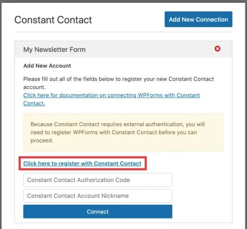 Click here to subscribe to Constant Contact